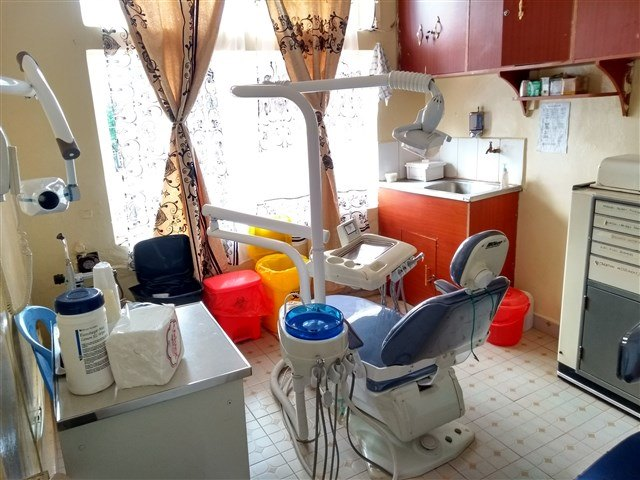 One of the two well-equipped treatment rooms at the dental clinic.