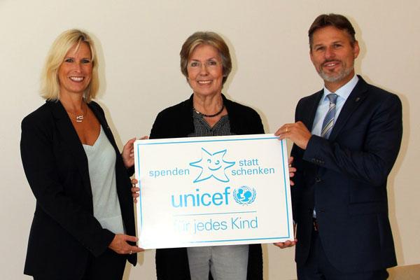 Spenden statt schenken: VOCO hat sich in diesem Jahr für eine Spende an UNICEF a