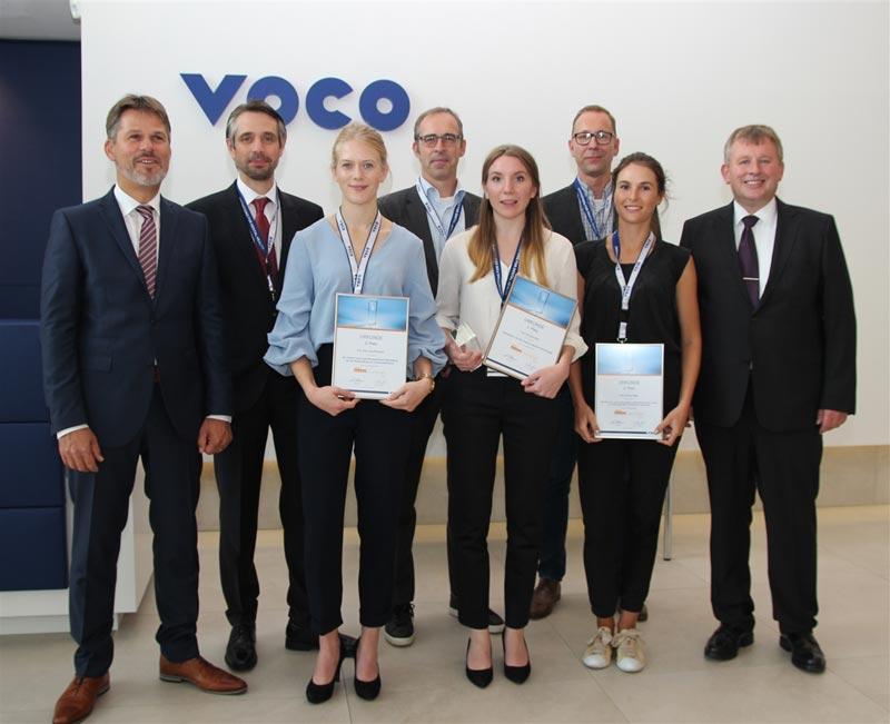Die drei Preisträgerinnen der diesjährigen VOCO Dental Challenge – Franziska Bec
