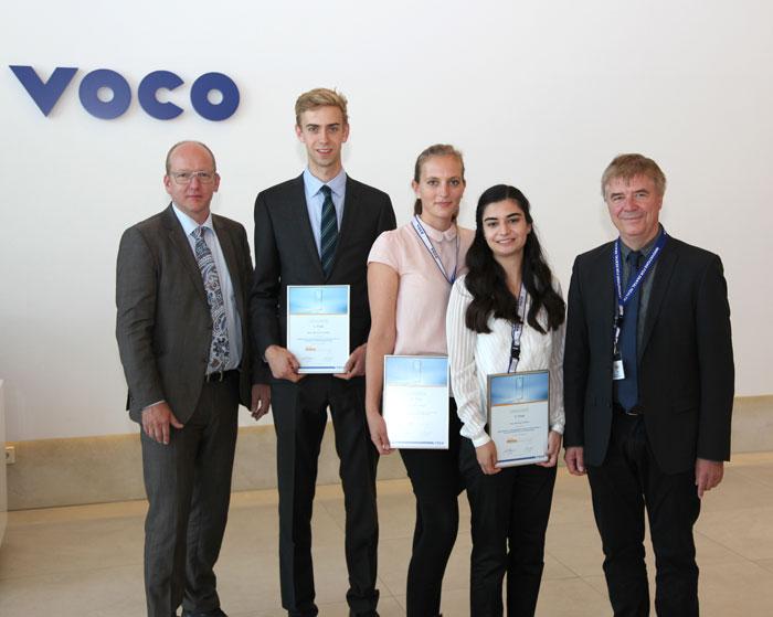 Abb. 1) Die Preisträger und Preisträgerinnen der diesjährigen VOCO Dental Challe