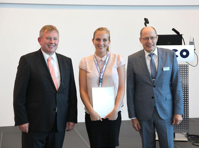 Abb. 4) 2. Platz: Frau Kerstin Siemer (Universitätsklinikum Freiburg) jeweils mi