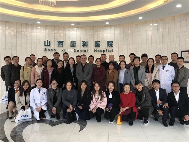 Teilnehmende Zahnärzte in Shanxi.