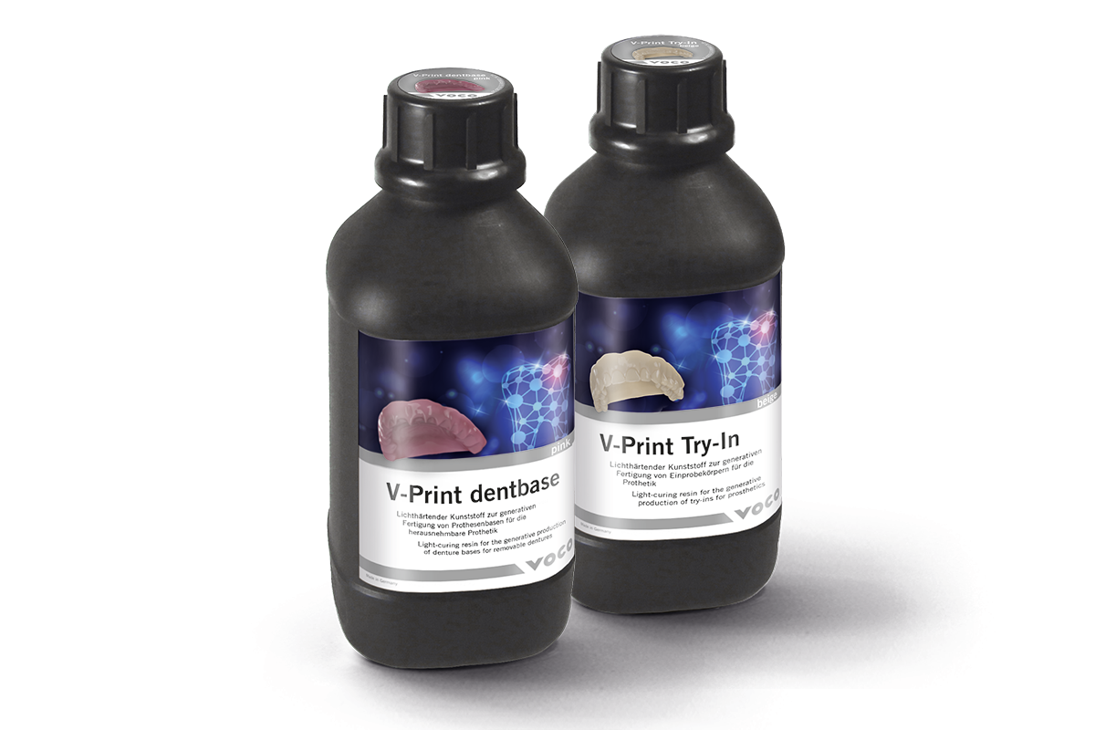 V-Print dentbase ist ein lichthärtender Kunststoff zur generativen Herstellung v