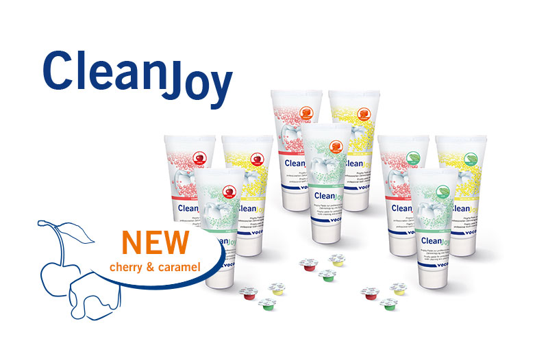 CleanJoy prophylaxis paste from VOCO is now also available in the new flavours c