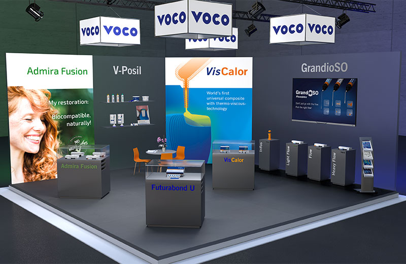 With the new digital trade fair stand VOCO is offering all customers and partner
