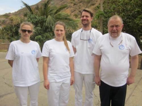 Los colaboradores de DWLF en Cabo Verde: Julia Reichmann, Dra. Carina Angeli, Dr
