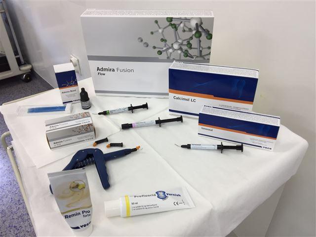 El doctor Škrinjarić solo utiliza productos dentales de alta calidad para el