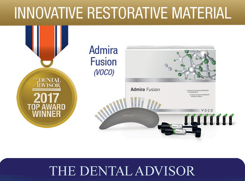 """The Dental Advisor"" zeichnet Admira® Fusion mit dem Produkt-Award aus. Quelle:"