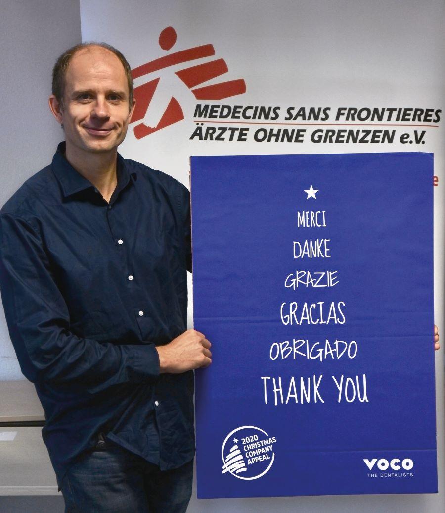 Christian Katzer, gérant de « Médecins sans frontières » Allemagne, remercie VOC