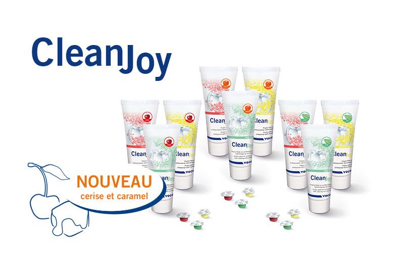 La pâte prophylactique CleanJoy de VOCO existe désormais aussi avec les parfums