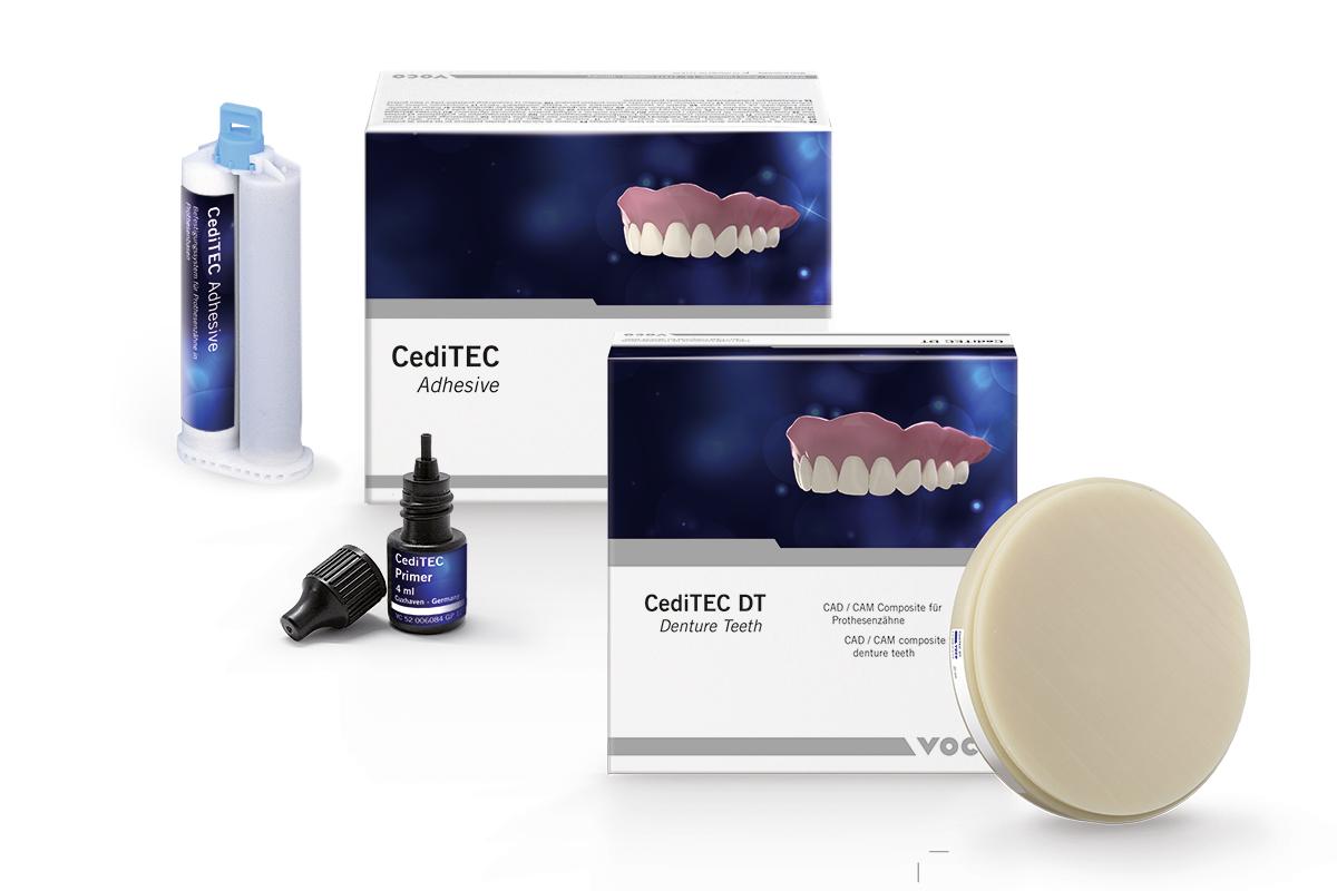 CediTEC bietet mit CediTEC DT (Denture Teeth) das Material für die Prothesenzähn