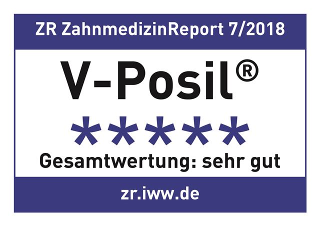 "The test dentists from the renowned Zahnmedizin Report rated V-Posil ""very good"""