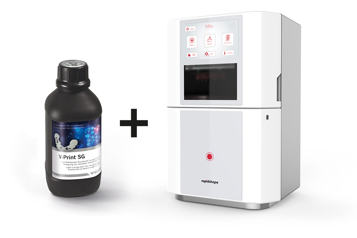 V-Print materials also compatible with rapidshape 3D-printers. Details you will