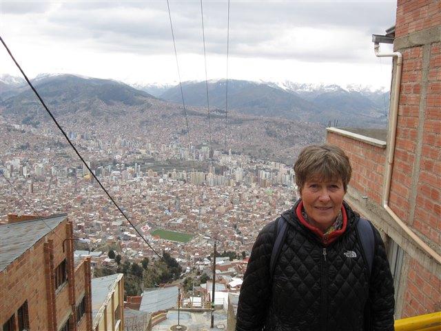 A Drª Annette Schoof-Hosemann em Santa Cruz, Bolívia.