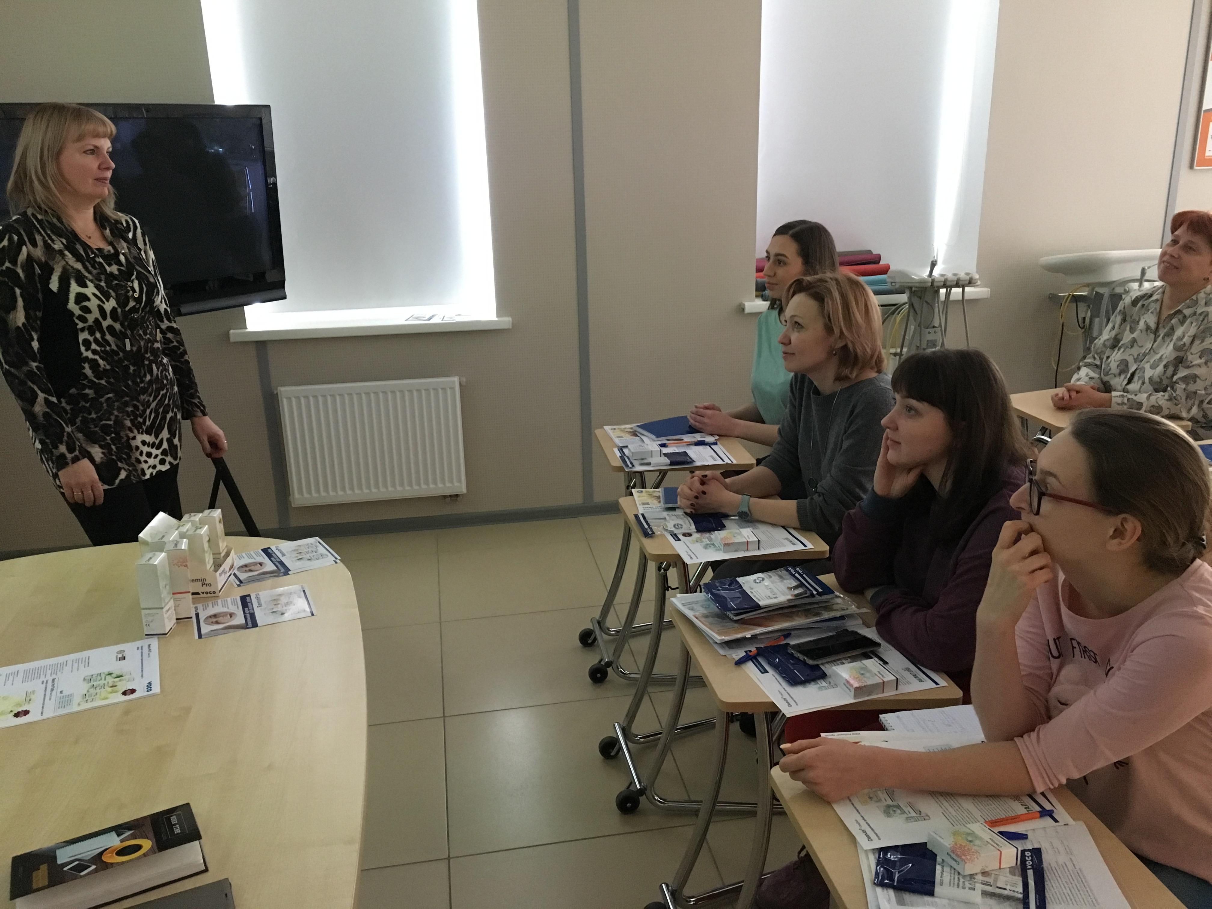 Врачи-стоматологи на увлекательной лекции д-ра Ларисы А. Лобовкиной