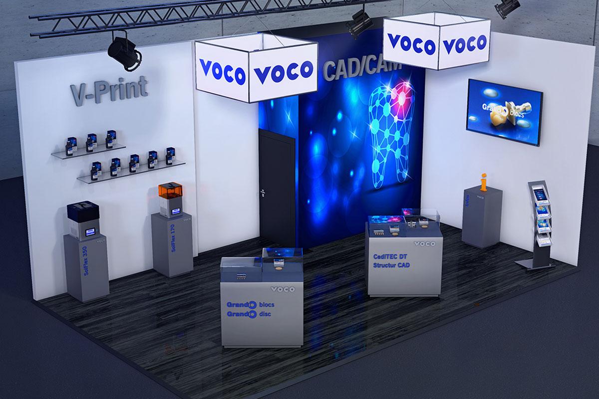 Con el nuevo stand virtual, VOCO le puede ofrecer ahora a todos los clientes y s