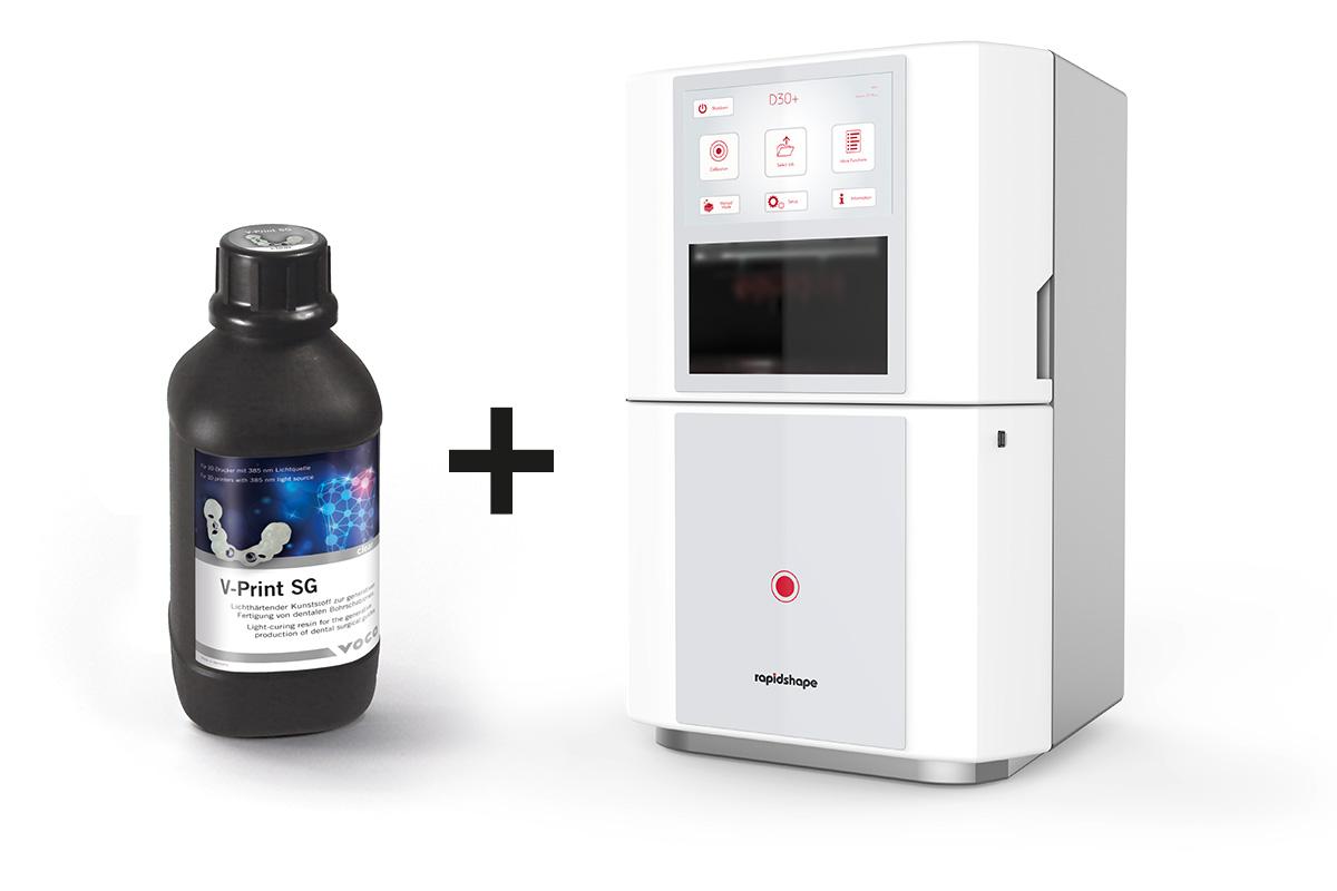 Los materiales V-Print también son compatibles con las impresoras 3D de Rapid Sh